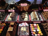 All kinds of sweets in Madrid.