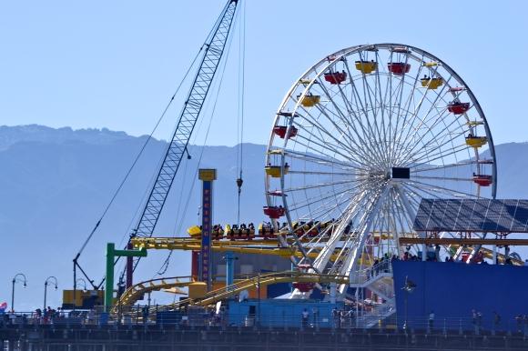 Ferris Wheel, Santa Monica Pier, Los Angeles.