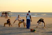 Capoeira dancers in Jericoacoara, Brazil.