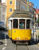 Cable car in Lisbon.