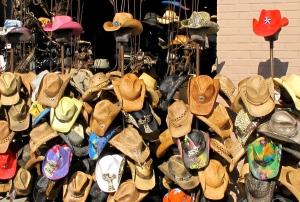 Hats galore, all colors. Venice Beach, CA.
