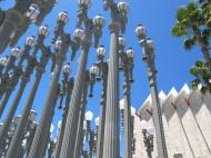 """Urban Lighting"" installation, by Chris Burden, at LACMA, Los Angeles"