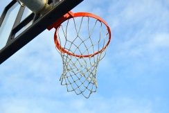 Underneath the hoop...