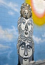 Street art at Abbot Kinney Blvd. in Venice Beach.