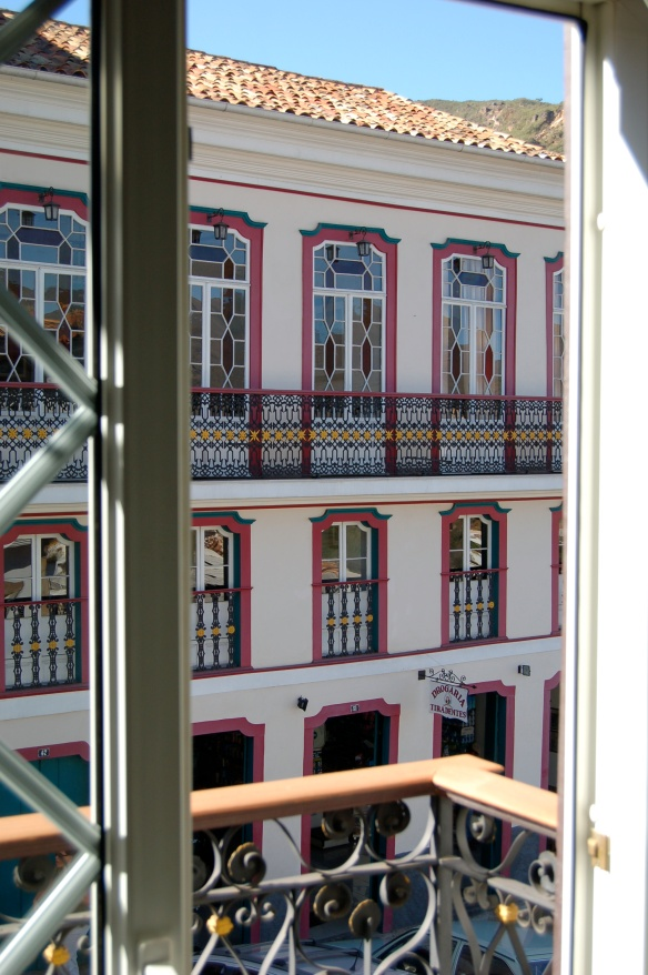Looking out the window, I saw many other windows. In Ouro Preto, Brazil