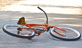 Abandoned orange bike. Ojai, CA.