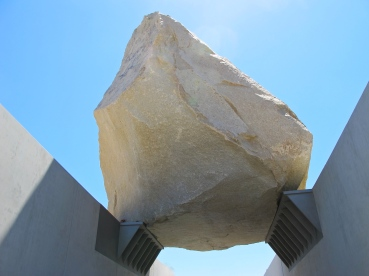 "340-ton granite megalith ""Levitated Mass"", LACMA, LA."