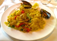 Paella in Madrid, Spain.