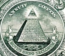 Detail of US 1 dollar bill.