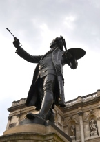 Statue at the Royal Academy of Arts, London.
