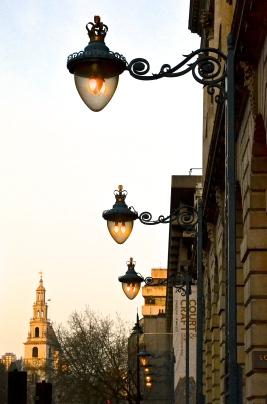 Lamps outside Somerset House, London.
