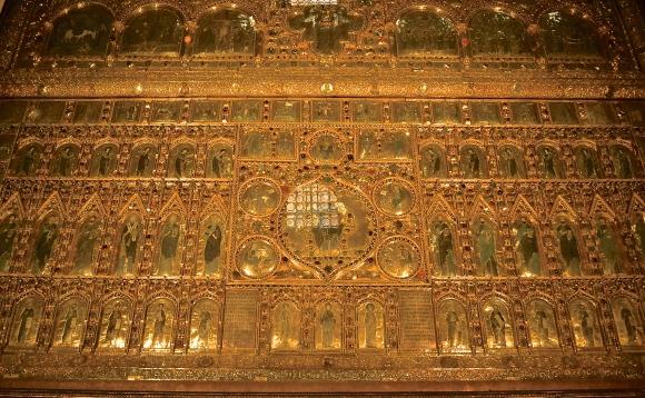 Gold panel. San Marco Basilica, Venice, Italy.