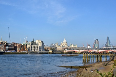 Thames River, London, UK.