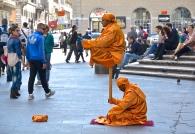 Levitating man? Rome, Italy.