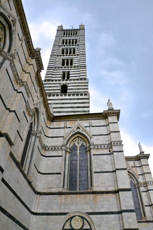 Duomo exterior shot, Sienna, Italy.