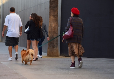Dod walking woman. :)