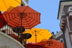 Several shades of orange, Beverly Hills, CA.