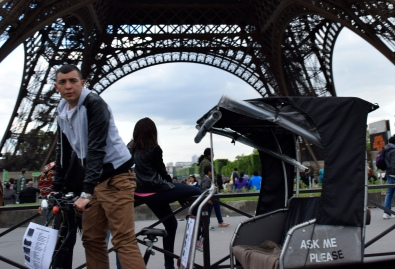 Gypsy cab driver. Paris, FR.