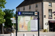 Arriving in Pommard, Burgundy.