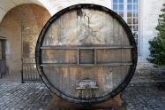 Old wine barrel.