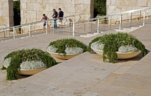 Three people, three planters.