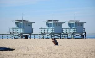 Three lifeguard posts.