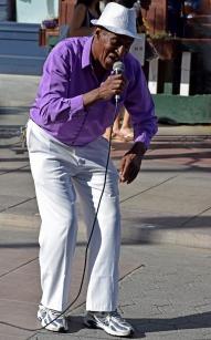 Cuban singer giving his best.