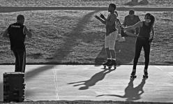People dancing on skates...
