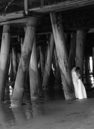 Wedding picture. Sta. Monica Pier.