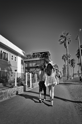 Venice Beach couple.