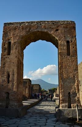 Framing Mount Vesuvius. Pompeii, Italy.