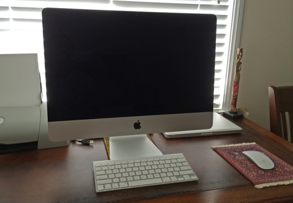 My iMac, at home in L.A.