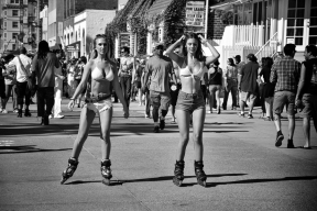 Girls on skates.