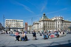 Karlsplatz. Central Munich.