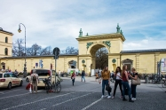 Gate to Hofgarten. Central Munich.