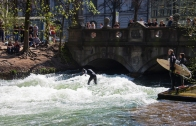 Artificial wave at Eisbach.