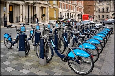 Bikes in London.