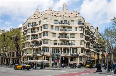 Gaudi's Casa Milá (La Pedrera), Barcelona.