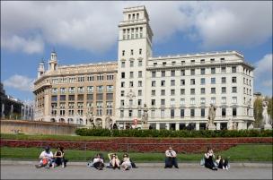 Plaza de Catalunya, Barcelona.