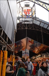 La Boqueria food market, Barcelona.