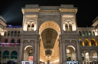 Galleria Vittorio Emanuele II at night.