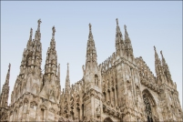 Duomo di Milano. Detail of top exterior.