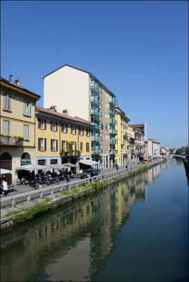 Naviglio neighborhood, canal.