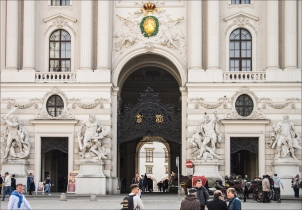 Entrance to Hofburg Palace, Vienna.