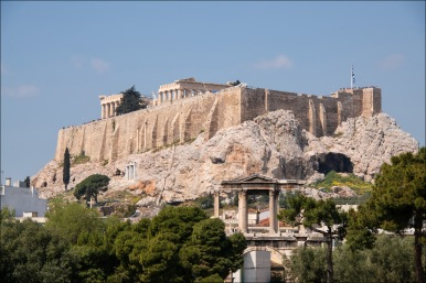 The Acropolis viewed from below.
