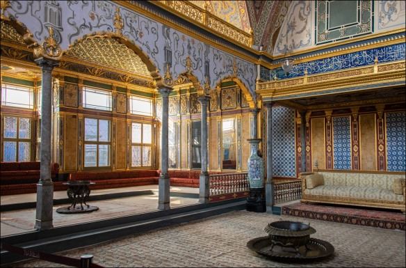 The Imperial Room at the Harem, where they held ceremonies.
